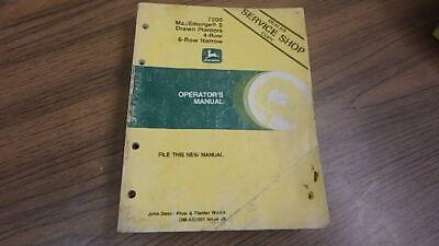 John Deere Operators Manual 7200 Planter 4 6 Row Oma50301 B47