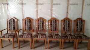 6 Chairs + Premium Wooden Dining Table -  $499 or best offer! Belleville Belleville Area image 1