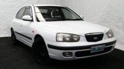 2001 Hyundai Elantra XD GLS Noble White 4 Speed Automatic Sedan Derwent Park Glenorchy Area Preview