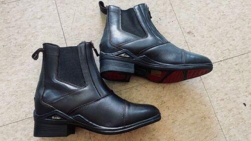 DUBLIN Ladies Front ZIP Riding Jodhpur BOOTS Dark Brown *NEW* size 8 Leather