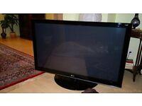 LG 50 INCH HD (1080p) PLASMA TV +FREE BLACK TEMPERED GLASS TV STAND