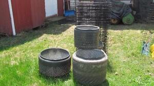 Cuves de métal pour feux extérieur