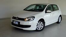 2012 Volkswagen Golf VI MY12.5 BlueMOTION White 5 Speed Manual Hatchback Hobart CBD Hobart City Preview