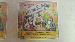 LABATT KUNTZ beer labels UNUSED circa 1989 London Ontario image 3
