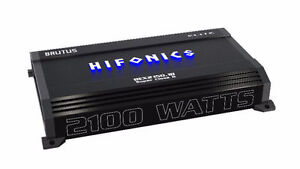 HIFONICS 2100W RMS AMPLIFIER - 1 OHM STABLE - BRAND NEW