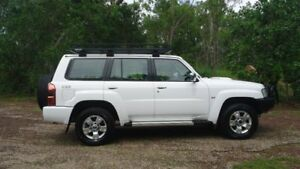 2014 Nissan Patrol Y61 GU 9 ST White 5 Speed Manual Wagon