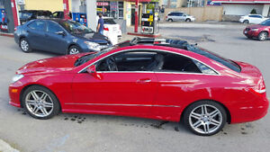 2010 Mercedes-Benz E-Class E350 Coupe (2 door) RED Mint cond.