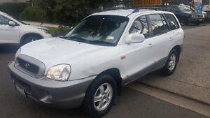 2000 Hyundai Santa Fe GLS (4x4) White 4 Speed Automatic Wagon