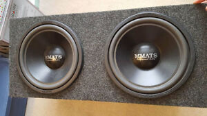 """2x12"""" MMATS Subwoofers with Factory Sealed Carpeted Enclosure"""