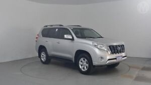 2015 Toyota Landcruiser Prado GRJ150R MY14 GXL Silver Pearl 5 Speed Sports Automatic Wagon Perth Airport Belmont Area Preview
