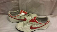 New Nike Soccer Shoes Cleats White Red 8 US Football adidas