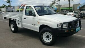 2001 Mazda Bravo B2500 DX White 5 Speed Manual Cab Chassis