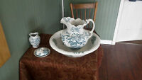 F&W Colonial Pottery Genoa washstand pieces