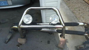 Nikle Grill guard with head lights and side steps!!