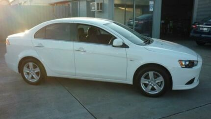 2014 Mitsubishi Lancer CJ MY14.5 LX White 6 Speed CVT Auto Sequential Sedan Dapto Wollongong Area Preview
