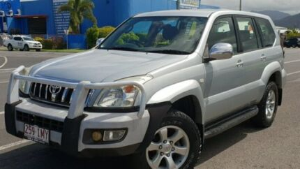 2005 Toyota Landcruiser Prado GRJ120R GXL Silver 5 Speed Automatic Wagon Bungalow Cairns City Preview