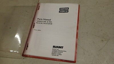 Prentice Hydro-ax Block Unloader Parts Manual Ci166