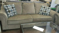 DYNASTY MOCHA SOFA AND LOVE SEAT