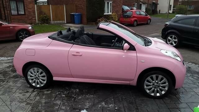 used nissan micra pink convertible. Black Bedroom Furniture Sets. Home Design Ideas