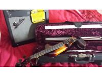 ELECTRIC VIOLIN and AMP (also includes bow, case and cables)