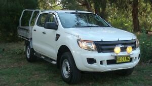 2013 Ford Ranger PX XL Double Cab White 6 Speed Sports Automatic Cab Chassis Oaks Estate Queanbeyan Area Preview