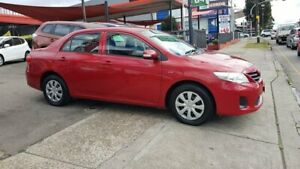 2011 Toyota Corolla ZRE152R MY11 Ascent Red 4 Speed Automatic Sedan Lidcombe Auburn Area Preview