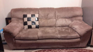 Suede sofa, new price!!! A nice piece! Only $135..