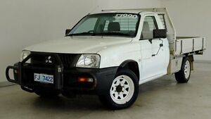2005 Mitsubishi Triton MK MY05 GL White 5 Speed Manual Cab Chassis Hobart CBD Hobart City Preview