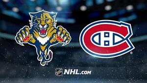 CANADIENS vs PANTHERS REDS WHITES GREYS BLUES - 30 MARS