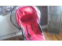 red petite star zia buggy & car seat