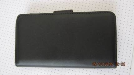 BLACK WALLET/ CARDS HOLDER COVER - FOR SAMSUNG S6 ONLY. NEW