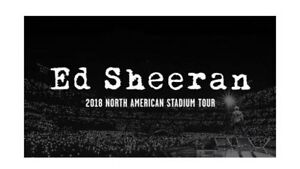 Ed Sheeran North American Stadium Tour 2018 - Bus Tour