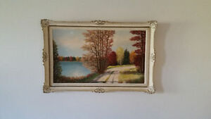 2 oil on board original paintings : Jalava / Rosinki