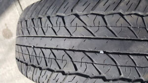 Complete set of four 265-65-17 Dunlop A/S Tires