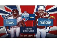 Tennessee titans vs L.A. Chargers 2 Tickets Wembley NFL 21.10.18
