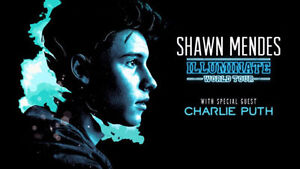 Shawn Mendes / Charlie Puth SOLD OUT Concert Ticket *** WOW WOW!