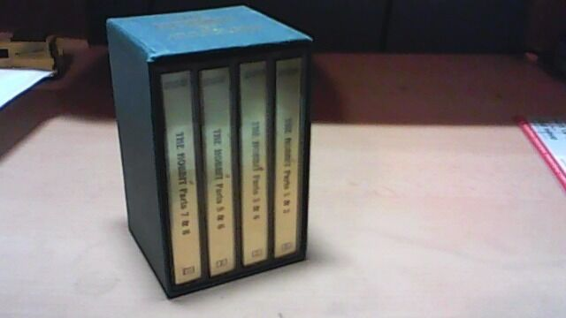 THE HOBBIT BY J.R.R.TOLKIEN--BBC 4 CASSETTE TAPE AUDIO BOOK BOX SET