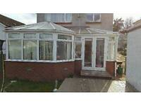 Large upvc conservatory for sale