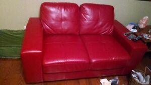 FAUX LEATHER SOFA LOVESEAT