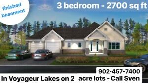 NEW HOUSE on 2 acre lot in VOYAGEUR LAKES
