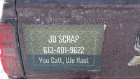 free scrap metal big battery and appliance pick up