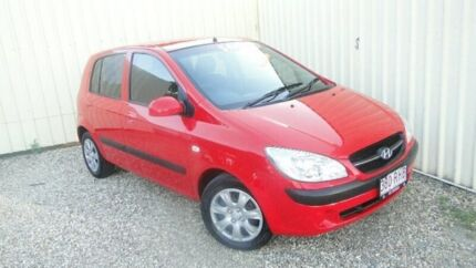 2010 Hyundai Getz TB MY09 S Red Manual Hatchback