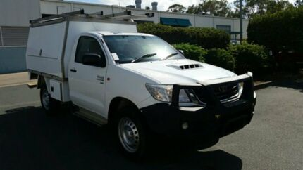 2013 Toyota Hilux KUN26R MY12 SR White 5 Speed Manual Cab Chassis Acacia Ridge Brisbane South West Preview