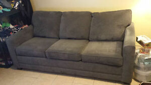 Sears Queen Size Sleeper Sofa Stirling Model (grey)