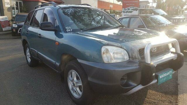 2001 Hyundai Santa Fe GL (4x4) Green 4 Speed Automatic Wagon Revesby  Bankstown Area