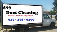 Duct Cleaning $99.99 - Oakville-Ontario l (647) 478-6499