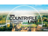 Countryfile Live Show Blenheim Palace 2 Tickets for £20 total
