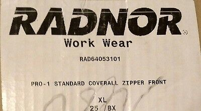 2 Radnor Xl Disposable White Protective Suits Coverall