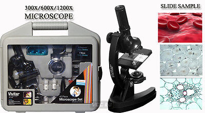 Vivitar Micro View Microscope MIC-2 300X 600X 1200X NEW W/Box on Rummage