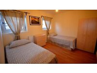 2 X TWIN ROOM AVAILABLE 5 minutes away from DEPTFORD Station - ZONE 2 - ALL INCLUSIVE